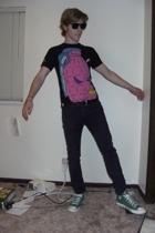 Wet Seal sunglasses - Kid Robot t-shirt - BDG jeans - Converse shoes