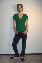 FredFlarecom sunglasses - American Apparel t-shirt - BDG jeans - tokidoki shoes