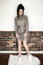 White-wedge-acne-studios-shoes-dark-khaki-soft-minimalist-vintage-dress