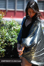 silver metallic vintage jacket