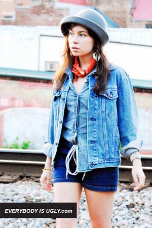blue blue jean vintage jacket