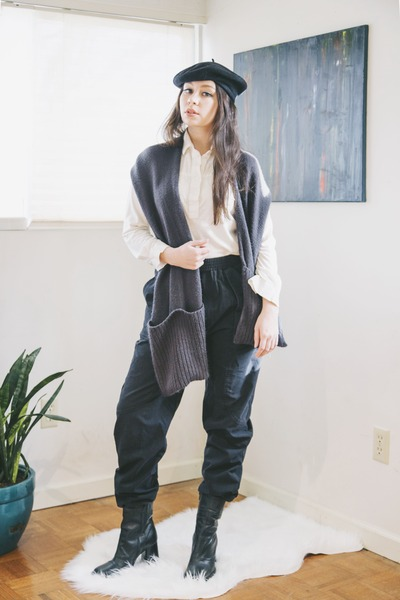 black baggy vintage pants