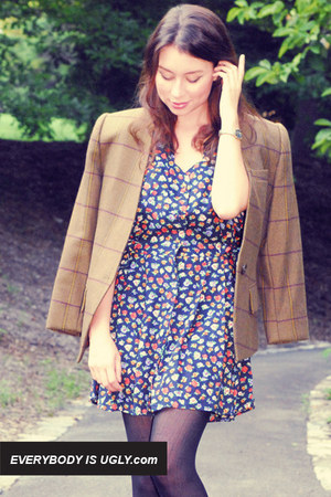 floral vintage dress