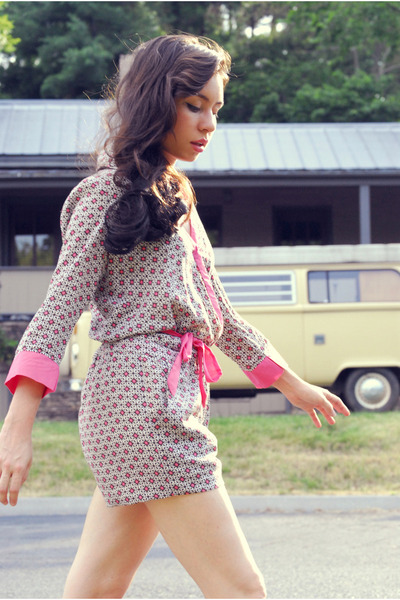 brown boots - pink wrap Sugarlips romper