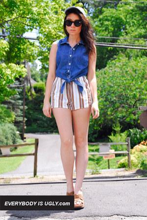 running vintage shorts