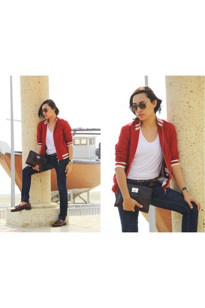 ruby red jacket Zara jacket