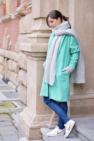 aquamarine handmade coat
