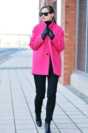hot pink handmade coat
