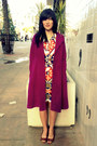 Shift-vintage-lanvin-dress-magenta-cashmere-vintage-coat
