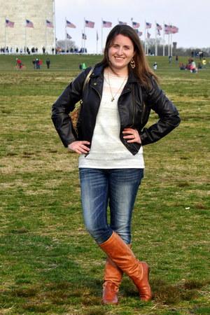 Steve Madden boots - Levis jeans - Century 21 jacket - Loft sweater - coach bag
