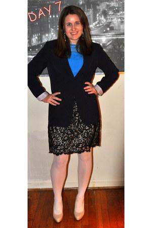 Elie Tahari blazer - Loft skirt - banana republic blouse - kohls heels