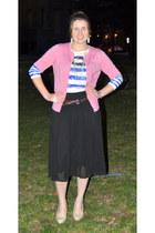 Loft shirt - kohls heels - White House Black Market skirt - Loft cardigan - kohl