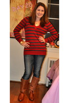 Steve Madden boots - Levis jeans - Forever 21 sweater - Michael Kors watch - For