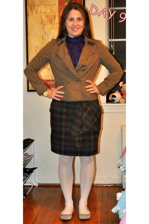 Loft jacket - Forever 21 tights - American Eagle flats - Michael Kors skirt - ko