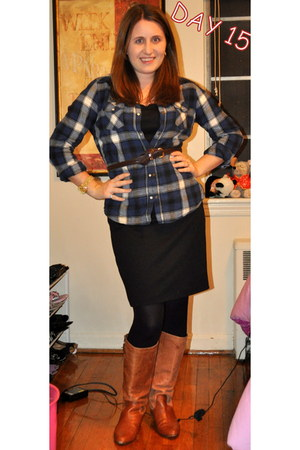 Steve Madden boots - XOXO dress - Target shirt - kohls belt - Michael Kors watch