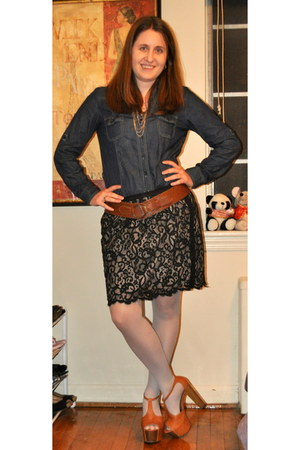 Charlotte Russe dress - kohls tights - Jessica Simpson heels - Loft skirt - Pari