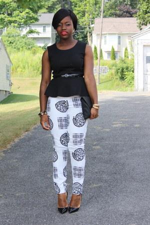 self-made pants - Christian Louboutin heels