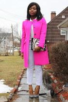 pink J Crew coat
