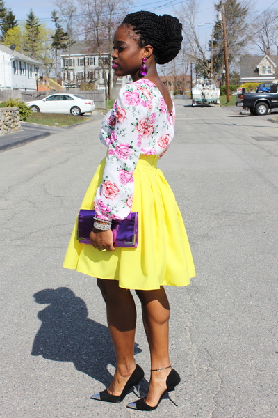 Floral-asos-top-neon-yellow-self-made-skirt-cap-toe-bebe-heels_400