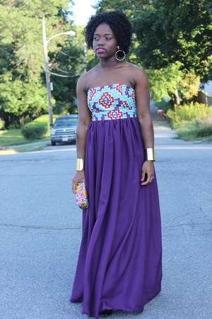 maxi printed Self Made dress