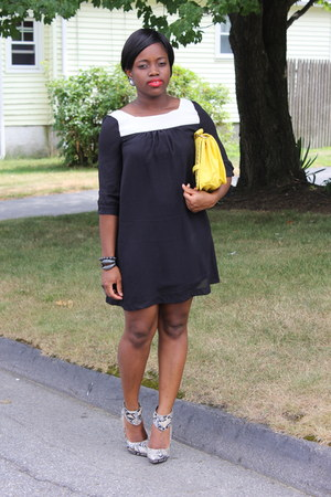 cuffed asos heels - H&M dress - Charming Charlie bag