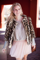 Anthropologie jacket - H&M sweater - Forever 21 skirt