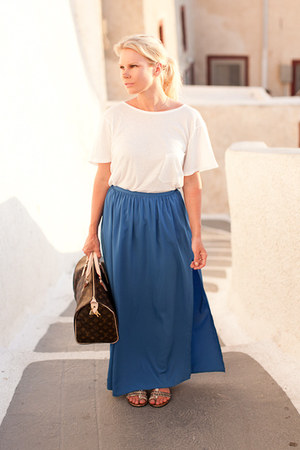 Topshop skirt - Theory shirt