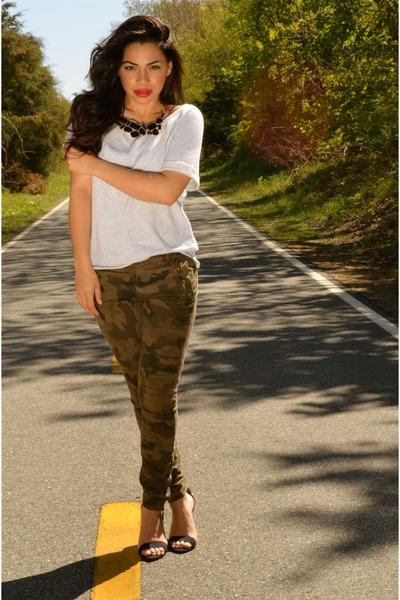 camouflage Zara pants - Zara heels