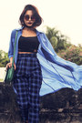 Plaid-abaday-pants-long-blouse-abaday-blouse-schutz-glasses
