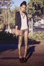 Black-arezzo-shoes-cream-scaramuggio-multimarcas-shirt-bronze-schutz-bag