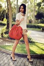Eggshell-scaramuggio-shirt-red-zara-bag-tan-zara-shorts