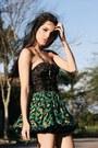 Green-romwe-skirt