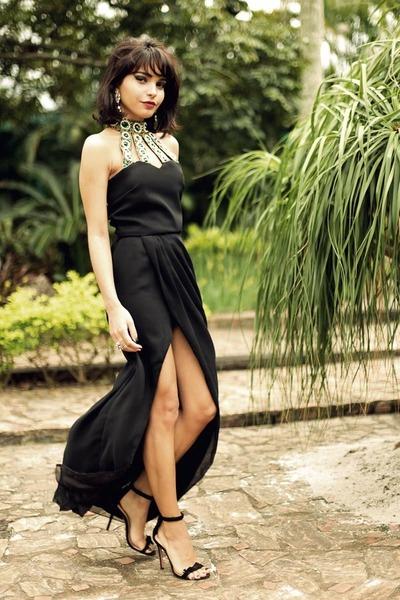 Schutz sandals - black Virgos Lounge dress