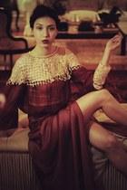 brick red Alana Ruas skirt - camel Alana Ruas accessories