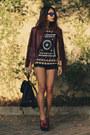 Sheinside-shorts-sheinside-blouse