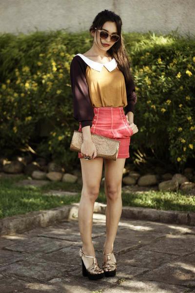 mustard romwe blouse