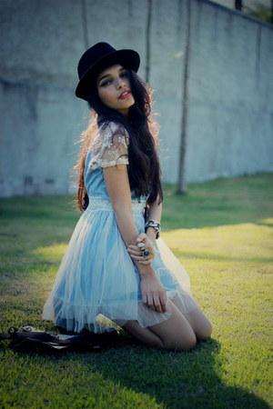 light blue denimlace Chicwish dress