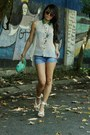 Beige-chicwish-shirt-aquamarine-colcci-bag-sky-blue-jeans-chicwish-shorts