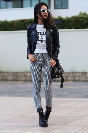 Alana Ruas Concept leggings - romwe blouse