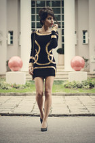 black BQUEENSHOES dress