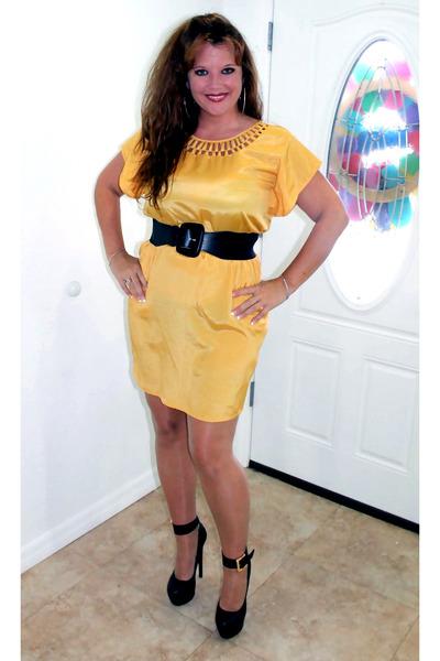 yellow silk Nordstrom dress