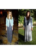periwinkle H&M jacket - sky blue H&M dress