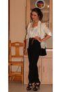 White-zara-shirt-beige-h-m-jacket-black-armani-vintage-pants-black-zara-sh
