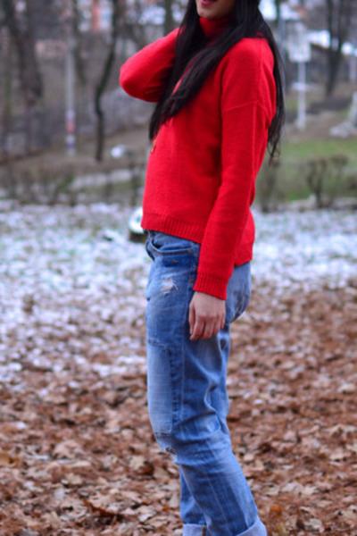 Zara boots - Zara jeans - nike hat - Zara blouse