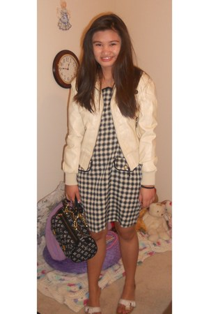Louis Vuitton bag - JouJou jacket - Alberta Ferretti shoes - dress