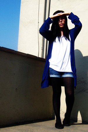 H&M shirt - Forever21 coat - pepe london jeans jeans - Old Navy tights - ballet