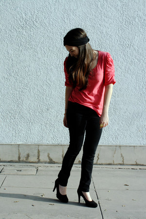 no brand heels - axxs top - Sybilla pants - diy turband accessories