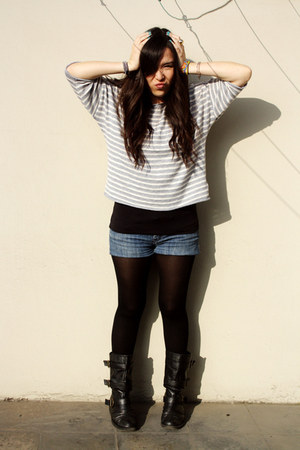 Forever21 top - Marquis top - asos boots - Caffarena tights