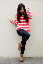 barbados boots - emporium jeans - Navigata sweater - Forever21 watch