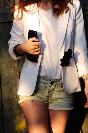 Vintage costume blazer - house shirt - house shorts - H&M bracelet